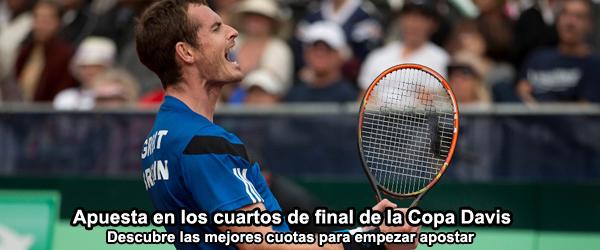 Apuesta en los cuartos de final de la Copa Davis