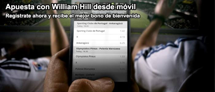 Apuesta con William Hill desde móvil