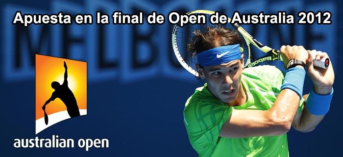 Apuesta en la final de Open de Australia 2012