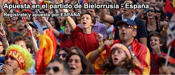 Apuesta en el partido de Bielorrusia - España
