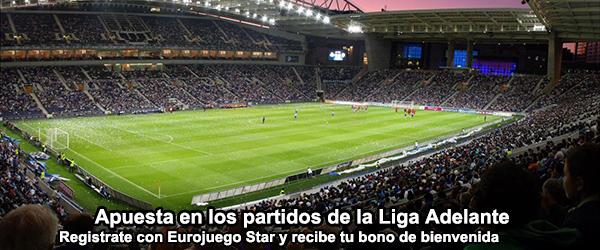 Apuesta con EuroJuego Star en los partidos de la Liga Adelante