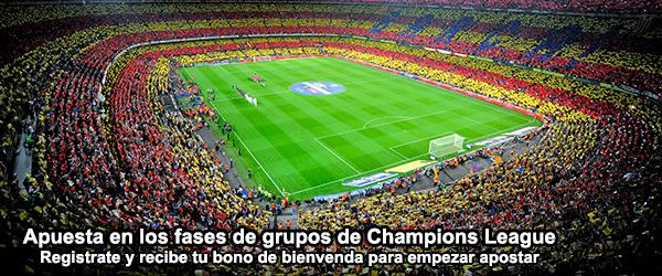 Apuesta en los fases de grupos de Champions League