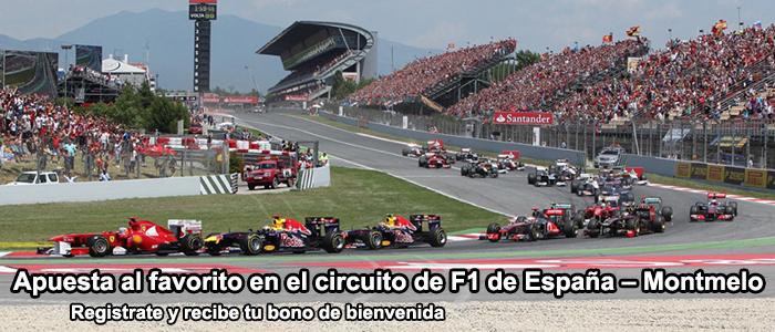 Apuesta al favorito en el circuito de F1 de España – Montmelo 2013