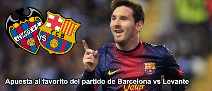 Apuesta al favorito del partido de Barcelona vs Levante
