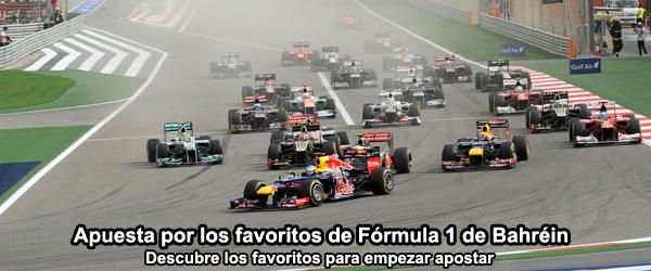 Apuesta por los favoritos de Fórmula 1 de Bahréin