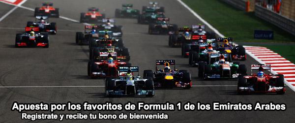 Apuesta por los favoritos de Formula 1 de los Emiratos Árabes