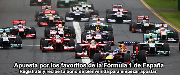 Apuesta por los favoritos de la formula 1 de España