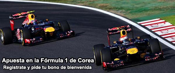 Apuesta en la Fórmula 1 de Corea