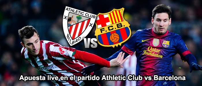Apuesta live en el partido de Athletic Club vs Barcelona