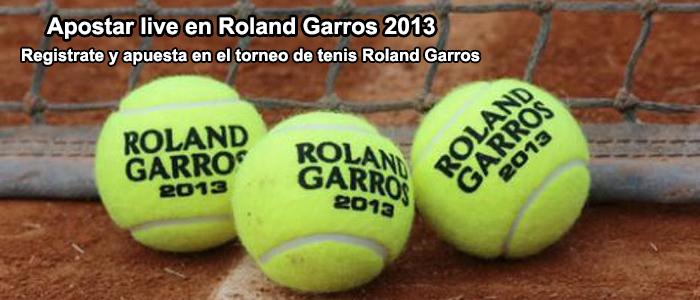 Apuestas live Roland Garros 2013