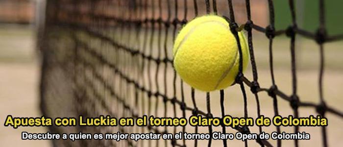 Apuesta con Luckia en el torneo Claro Open de Colombia