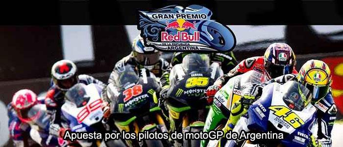 Apuesta por los pilotos de motoGP de Argentina