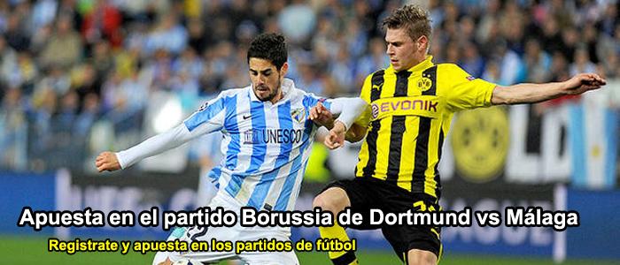 Apuesta en el partido Borussia de Dortmund vs Málaga