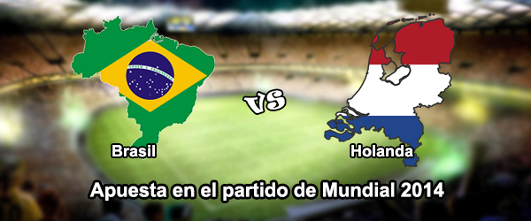 Apuesta en el partido de Brasil - Holanda