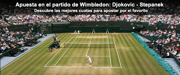 Apuesta en el partido de Wimbledon: Djokovic - Stepanek