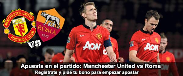 Apuesta en el partido de Manchester United contra Roma