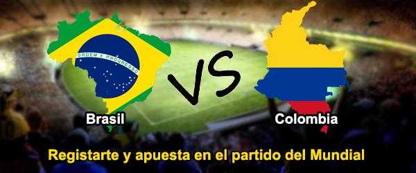 Apuesta en el partido de Mundial: Brasil - Colombia