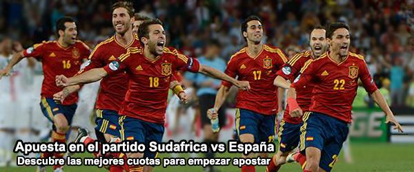 Apuesta en el partido Sudafrica vs España
