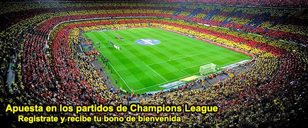 Apuesta en los partidos de Champions League
