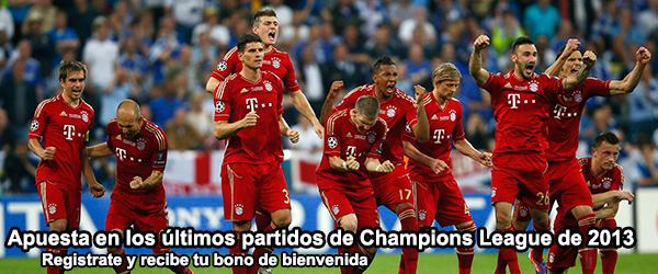 Apuesta en los últimos partidos de Champions League de 2013