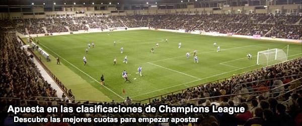 Apuesta en los partidos de las clasificaciones de Champions League