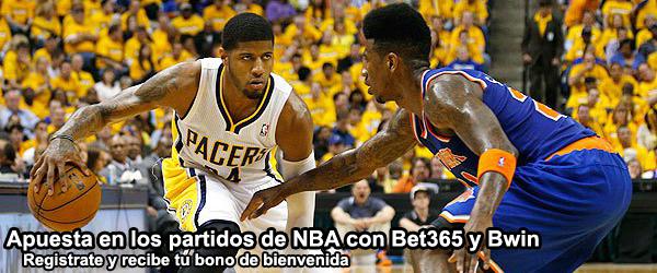 Apuesta en los partidos de NBA con Bet365 y Bwin