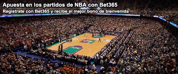 Apuesta en los partidos de NBA con Bet365