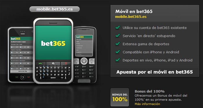 Como apostar en Bet365 desde movil o tablet