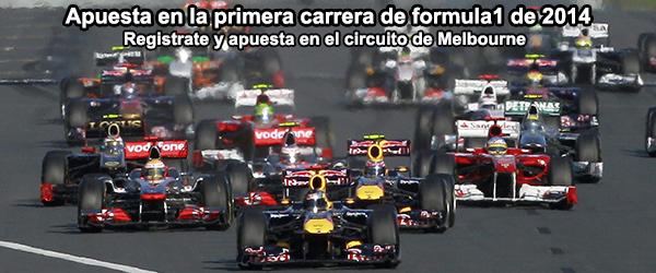 Apuesta en la primera carrera de formula1 de 2014 - Melbourne