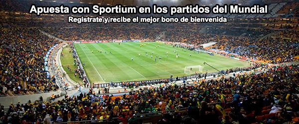 Apuesta con Sportium en los partidos del Mundial