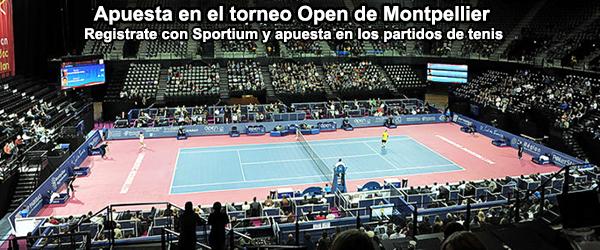 Apuesta con Sportium en el torneo de tenis de Montpellier