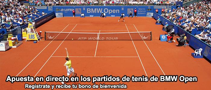 Apuesta en directo en los partidos de tenis de BMW Open