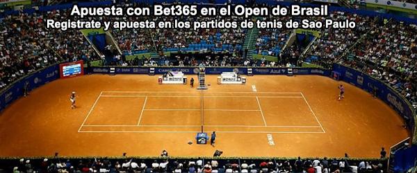 Apuesta con Bet365 en el Open de Brasil - Sao Paulo