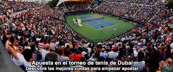 Apuesta en el torneo de tenis de Dubai