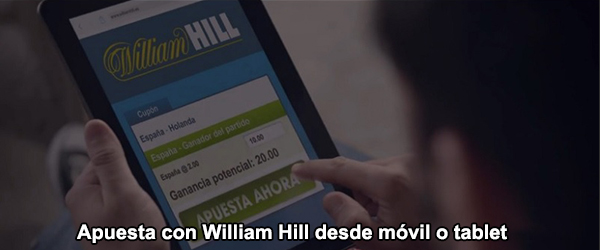 Apuesta con William Hill desde móvil o tablet
