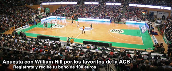 Apuesta con William Hill por los favoritos de la ACB