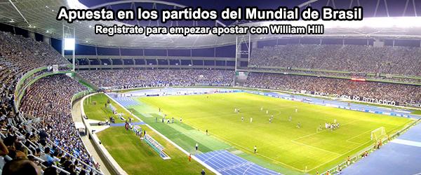 Apuesta con William Hill en los partidos del Mundial de Brasil