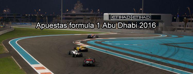 Apuestas formula 1 Abu Dhabi 2016