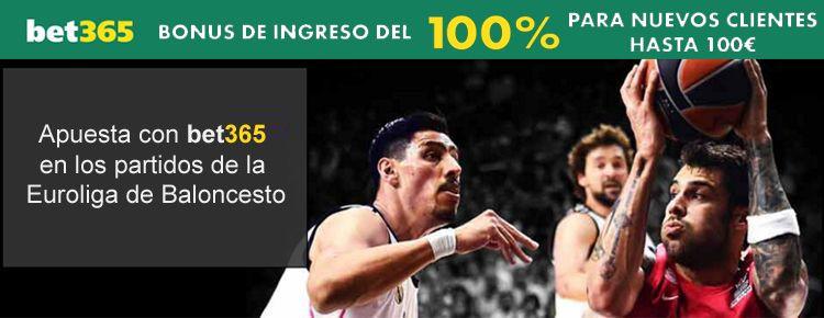 Apuesta con Bet365 en los partidos de la Euroliga de Baloncesto