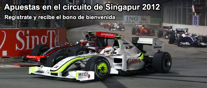 Apuestas circuito de Singapur 2012