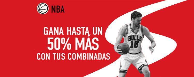 Gana hasta un 50% más con tus combinadas de NBA