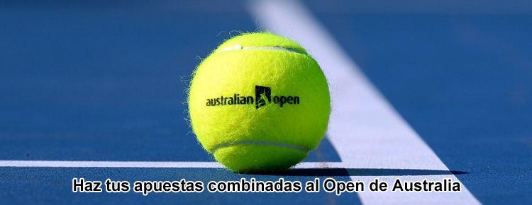 Haz tus apuestas combinadas al Open de Australia