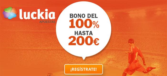 Bono bienvenida Luckia apuestas deportivas