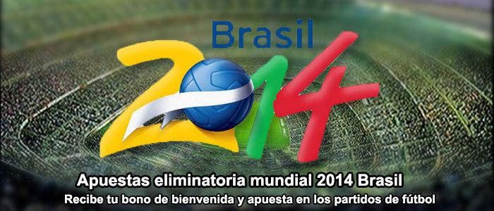 Apuestas clasificación mundial 2014 Brasil
