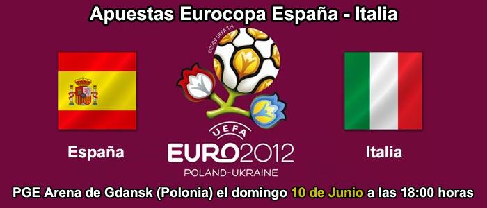 Apuestas Eurocopa España - Italia
