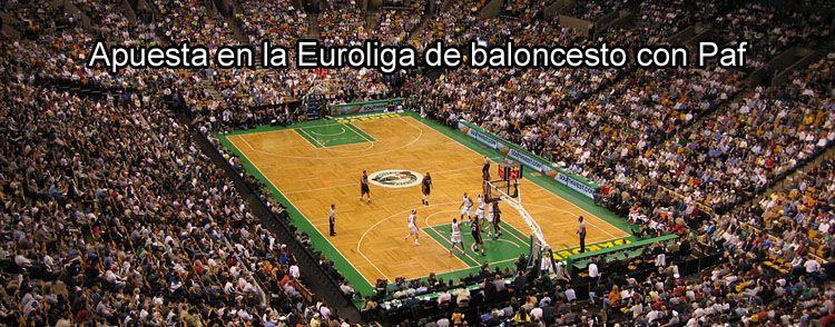 Apuesta en la Euroliga de baloncesto con Paf