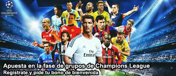 Apuesta en la fase de grupos de Champions League