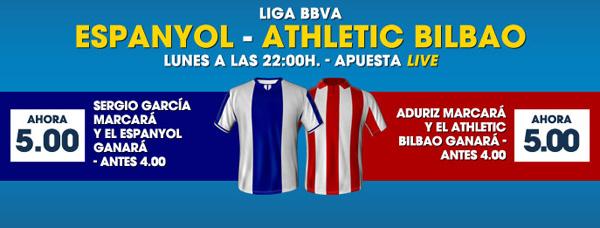 Apuesta al favorito en el partido Espanyol - Athletic