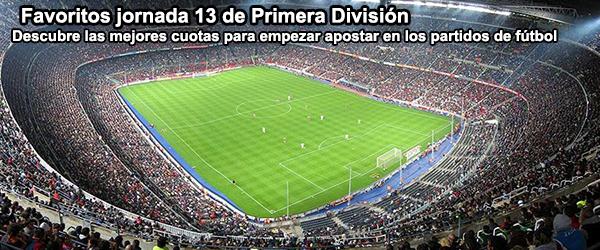 Favoritos jornada 13 de Primera División