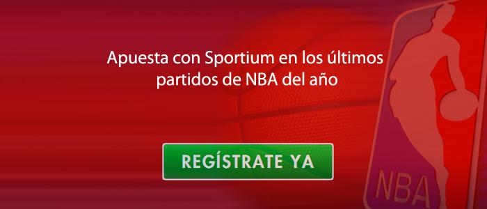 Apuesta con Sportium en los ultimos partidos de NBA del año